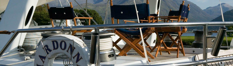 a visiting yacht at Corpach