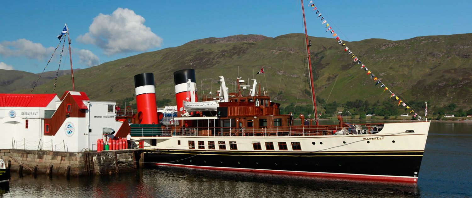 The waverley - before Fort William's pier became not fit for purpose